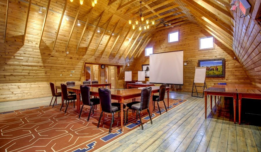 Grand meeting spaces at the Crossing at Ghost River Cochrane alberta