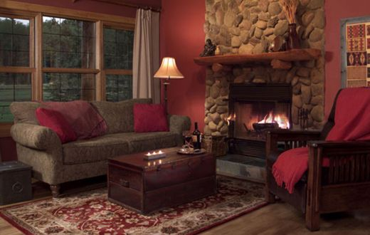 Creekside cottage hearth
